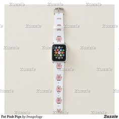 Shop Fat Pink Pigs Apple Watch Band created by Imagology. Apple Watch Series 1, Apple Watch Bands, Apple Fitness, Business Supplies, Digital Watch, Pigs, Gifts For Dad, Usb Flash Drive, Print Design