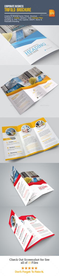 Real Estate Corporate Tri-fold Brochure Template Vector EPS, AI. Download here: http://graphicriver.net/item/realestate_corporate-trifold-brochure/15287198?ref=ksioks