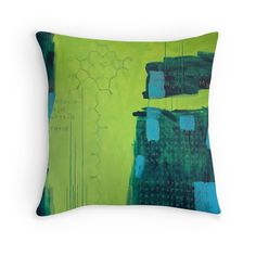 """Chlorophyll A"" Throw Pillows by Oliver Sin"
