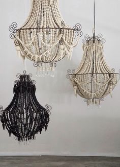 Check out these beautiful chandeliers crafted from mud
