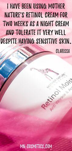 Retinol cream Vitamin E, Retinol Creme, Anti Aging, Very Well, Mother Nature, Sensitive Skin, Moisturizer, Cream, Dry Skin