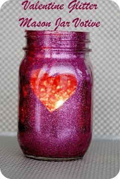 glitter jar...these are for valentine's day, but could do any color for anytime of year