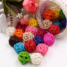 """Universe of goods - Buy Artificial Straw Ball For Birthday Party Wedding Decoration Rattan ball Christmas Decor Home Ornament Supplies"""" for only USD. Wreath Crafts, Diy Wreath, Diy Crafts, Wreaths, Craft Wedding, Home Wedding, Party Wedding, Flower Decorations, Wedding Decorations"""