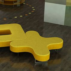 Modular upholstered bench / contemporary / fabric / commercial COAX Spaceoasis Signalerar lärmiljö