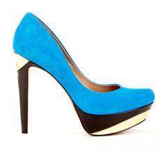 Colorblocked heel
