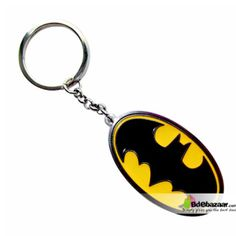 Batman Symbol Keyring (Yellow Color) Material: Zinc Alloy Dimensions : 5.5 * 4.5 * 1.5CM Packaging : Cardboard + transparent plastic Weight : 35G with packaging