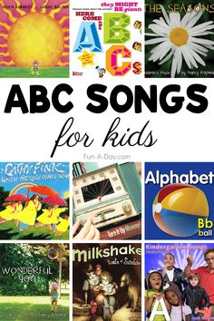 Music is one of our favorite ways to teach! Help kids learn the alphabet with these catchy ABC songs. They're perfect for homeschool, preschool circle time, or any time throughout the day! Preschool Teacher Tips, Preschool Songs, Preschool Lesson Plans, Kindergarten, Circle Time Activities, Rhyming Activities, Preschool Learning Activities, Alphabet Activities For Preschoolers, Abc Song For Kids