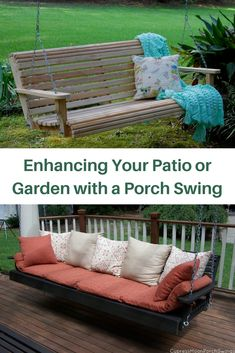 The simple addition of a porch swing turns your patio or garden into a delightful and enchanting area. Discover how Cypress Moon @porchswings can make your own backyard feel welcoming and look amazing!