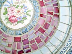 Mosaic Silverplated Tray Broken China Tray Mosaic by CatnipStudio,