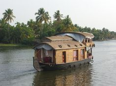 A sweet little houseboat on the backwaters in Kerala.