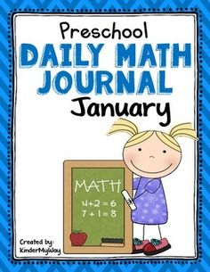 Preschool: Preschool Math Journal for January is perfect for the preschool classroom. The journal can be used for whole or small group instruction or homework.   This journal is spiraled to help students review the following concepts:  Number Recognition/Writing - Numbers 11-13 More/Less Shapes  Color by Number Patterning