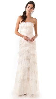 Temperley London, Long Dove Bridal Dress $6,575.00  beautiful dress @Shopbop.com walking on sunshine:-)