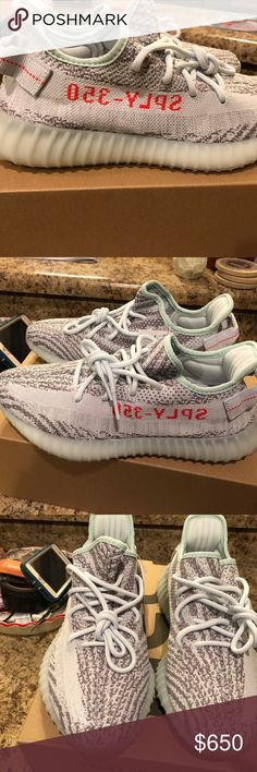 "Yeezy Boost 350v2 ""Blue Tint"" BRAND NEW! NEVER WORN! 100% Authentic. Only checked box to make sure order was correct. I have never even tried on. Ordered directly from Adidas website. Size 9. adidas Shoes Sneakers"