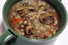 MUSHROOM BARLEY SOUP by Erin Chase at 5 Dollar Dinners