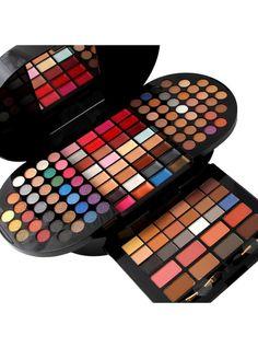 Professional 130 Color Shimmer Matte Eyeshadow Set Glitter Makeup Kit Maquiagem Cosmetics Eye Shadow Makeup Set Box With Mirror Shimmer Eyeshadow Palette, Bright Eyeshadow, Eyeshadow Set, Makeup Palette, Full Makeup, Makeup Box, Eye Makeup, Makeup Sets, Matte Makeup