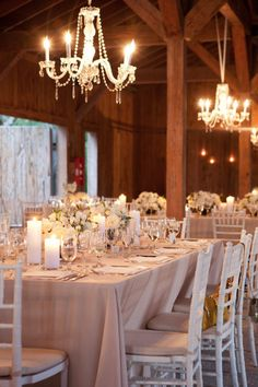 Barn setting with elegant details. Gayle Brooker Photography, Event Planning + Design by Kristin Newman Designs, Floral   Lighting Design by Gathering Floral + Event Design.