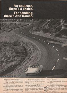 "1971 Alfa Romeo - ""For opulence, there's a choice"" - 1750 Spider Veloce #alfaromeovintage"