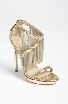 Free shipping and returns on B Brian Atwood 'Cassiane' High Sandal at Nordstrom.com. Diminutive chain-link fringe drips dynamic, head-turning flirt down a sultry snakeskin sandal, set on a gilded heel and platform for trend-led opulence.