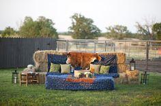 Hay bale couch and lounge area (Lauren Larsen)