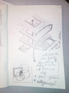 parametro: permeabilità verticale. soluzione: sottrazione di un solido in ogni livello in posizioni diverse. Cosi si creano soluzioni spaziali diverse mantenendo  continuità verticale visiva. Questo concetto può essere sviluppato con altre forme e spostamenti.