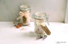 Lavender and rose oil infused bath soaks.