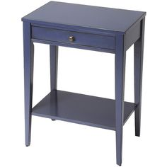 Loft Console Table ($380) ❤ liked on Polyvore featuring home, furniture, tables, accent tables, nocolor, blue table, colored furniture, butler accent table, blue accent table and blue console table