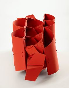 Available for sale from Leon Tovar Gallery, Edgar Negret, Puente Painted Aluminum, 38 × 38 × 139 cm