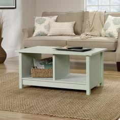 Free Shipping. Buy Sauder Original Cottage Collection Coffee Table, Rainwater at Walmart.com