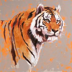 Burning Bright, tiger painting, oil on canvas