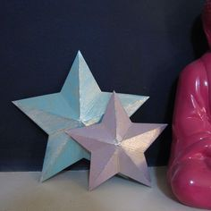 How to make a 3D star from a cereal box