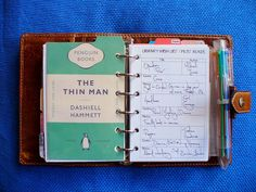 ModCons' Filofax--love the Penguin Books divider tab Kikki K, Planner Pages, Printable Planner, Book Dividers, Ec 3, Household Binder, Planner Organization, Organizing, Day Planners