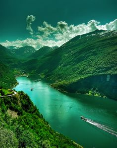 The Geiranger fjord (Geirangerfjorden) is a fjord in the Sunnmøre region, located in the southernmost part of the county Møre og Romsdal in Norway.