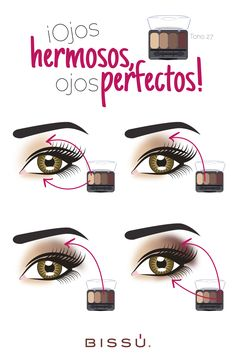 Cada tono tiene un lugar específico en tus ojos. ¡Conócelos! http://tiendaweb.bissu.com/ojos/17-sombra-cuarteto.html#/tonos_cuarteto-tono_29/tonos_cuarteto-tono_29