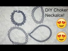 DIY Choker Necklace - YouTube