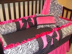 Future Baby Girl Bedding...if I ever have a baby girl this will definitely be her bedding! But maybe with blue or purple instead of pink....