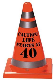 There's been a development and we need to cone off this area. Someone has turned 40 and this is a hazard zone. This orange hazard cone is 6'' x 4'' and has 'Cau