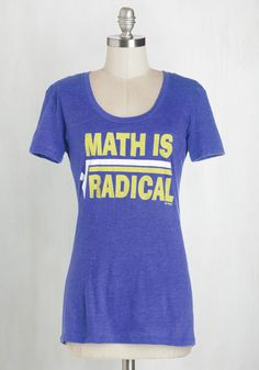 Squares Your Head At? Tee. Get to the root of the matter in this quirky graphic tee. #blue #modcloth