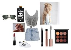 """Untitled #161"" by emilierhall on Polyvore featuring Topshop, adidas, NARS Cosmetics, MAC Cosmetics and Ray-Ban"
