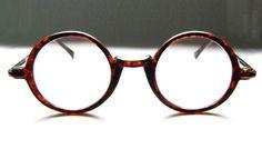 Vintage 80's Round Tortoise Eyeglass Frames by BackThennishVintage