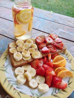 Healthy fruits to start you morning off right.