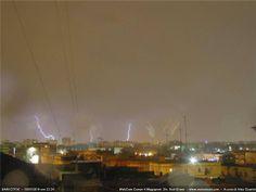 Bari durante un temporale. Per vedere la webcam in tempo reale visita http://www.inmeteo.net/webcam/bari/