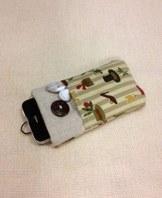 Cute handmade fabric iPhone case iPod touch von FullofDesignstore