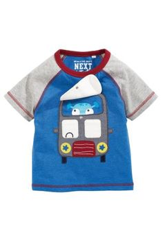 Buy Blue Short Sleeve Alien Bus Top (3mths-6yrs) online today at Next: Hungary
