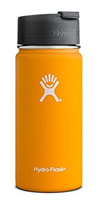 Hydro Flask 16 oz Vacuum Insulated Stainless Steel Water Bottle, Wide Mouth w/Hydro Flip Cap, Mango