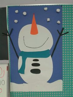 Snowman craft Winter Crafts For Kids, Winter Fun, Winter Theme, Art For Kids, Winter Ideas, Kindergarten Crafts, Daycare Crafts, Preschool Crafts, Holiday Activities