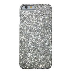 """Black and White """"Silver"""" granite Pattern iPhone 6 Case"""