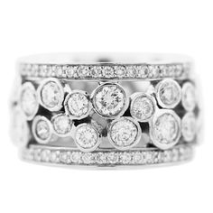 Shop diamond and sapphire band rings and other antique and vintage rings from the world's best jewelry dealers. Diamond Stacking Rings, Unique Diamond Rings, Round Diamond Ring, Stackable Rings, Gems Jewelry, Diamond Jewelry, Sapphire And Diamond Band, Right Hand Rings, Beautiful Rings
