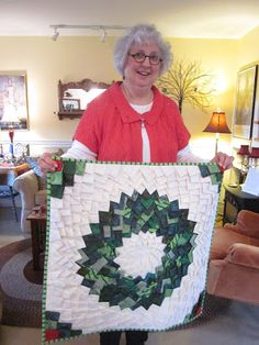 Deb Rowden's Thrift Shop Quilts: This is Jean Ayres, who taught me how to make a Pine Burr.