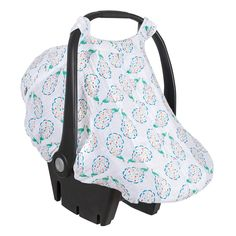 """$35 Breathable, premium 100% open-weave cotton muslin Simple to install easy-snap straps and elasticized bottom Fits most infant car seats Fully zippered opening Fits on car seats approx. 25"""" long by 17"""" wide"""