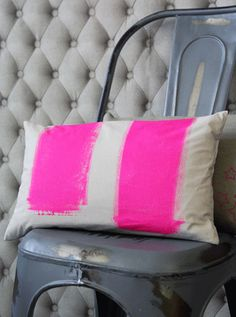 hot pink paint pillow from rockett st george.